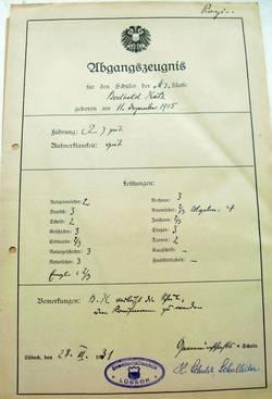 Abschlusszeugnis der Gemeinschaftsschule für Berthold Katz [4]