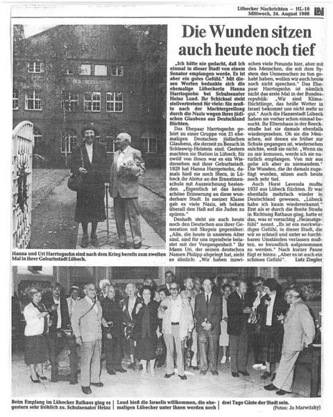 Lübecker Nachrichten 24 August 1988