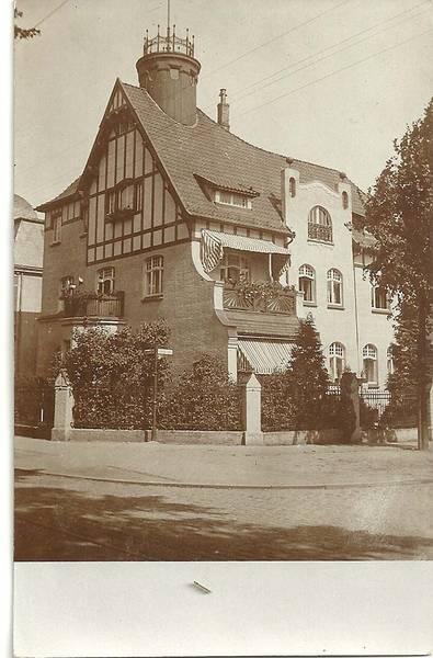 Travemünder Allee 8, diese Villa gehörte Max und Elise Marcus, den Eltern von Elsa Strauß Schwägerin Sofie Stern.