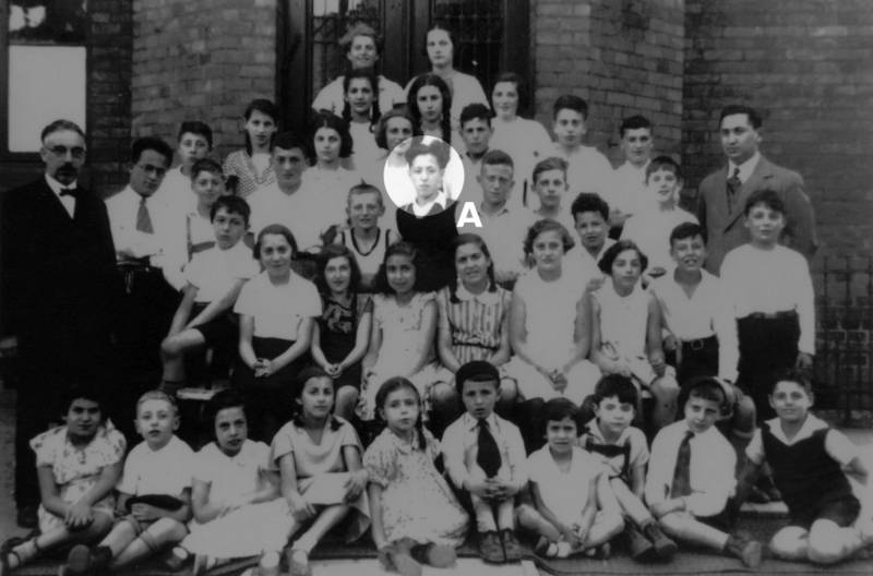 School students of the Jewish Religious School Lübeck, 1935