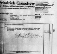 Invoice for the transportation of the household goods of the Camnitzer family