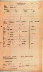 Karteikarte für Hermann Marcus Mecklenburg im belgischen Judenregister
