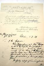 Letter from Daniel Salomon of 26 June1939 with annotations by the chief of police