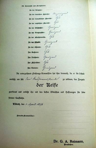 Realschule zu Lübeck vom 1. April 1898 [2]