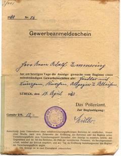 Gewerbeanmeldeschein 1930 [3]