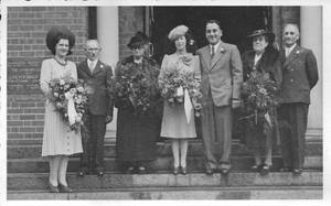 Wedding Picture of Judith Behr and Morris Wiener 1943