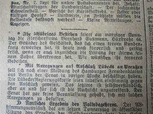 Lübecker Generalanzeiger vom 10.4.1926