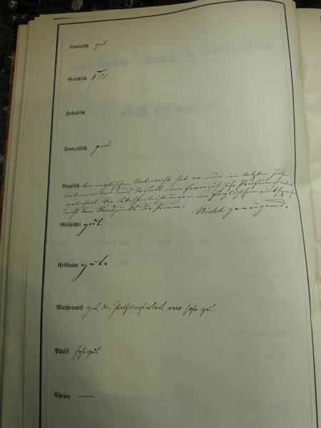 Reifezeugnis Seite 2