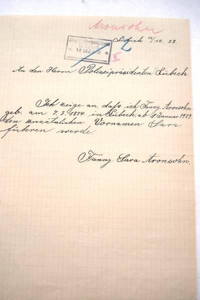 Compulsory names: Fanny Aronssohn