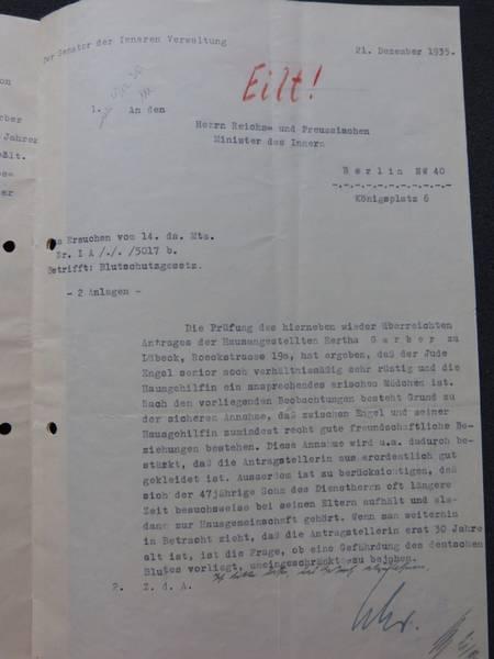 Archiv der Hansestadt Lübeck, Statliche Polizeiverwaltung 119