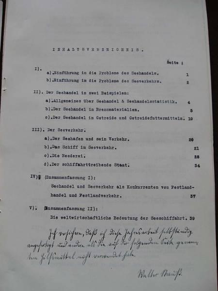 Gliederung der Jahresarbeit von Walter Strauß AHL, Schulen, Johanneum
