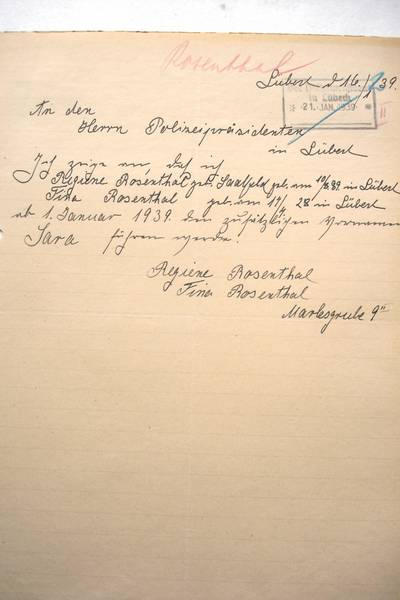 With this declaration Regina and Fina Rosenthal stated they agreed to take on their decreed obligatory names