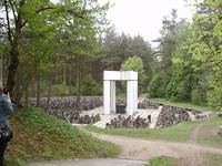 The Bikernieki Forest Memorial taken in the spring of 2010.  H.K-W.