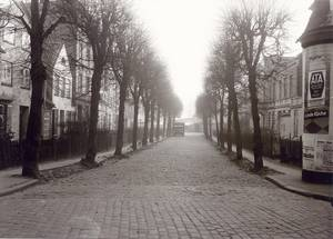 The pre-World War II street view of Weiter Lohberg, as seen from Langer Lohberg.  Weiter Lohberg 18 can be seen on the right hand side of the street at the end of the row of trees on the corner of Wakenitzmauer street. Photo Courtesy Fotoarchiv der Hansestadt Lübeck