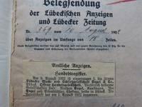Veröffentlichung der Eintragung ins Handelsregister vom 10.8.1922