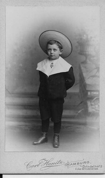Elias Edmund Wiener as a child and in his adolescence.