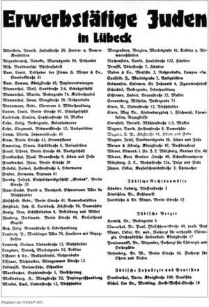 Boykottaufruf, Lübecker Generalanzeiger 1935