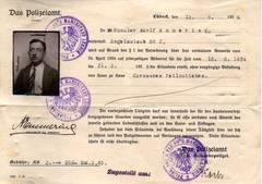 """Erlaubnis für """"ambulantes Gewerbe"""" (1934) [5]"""