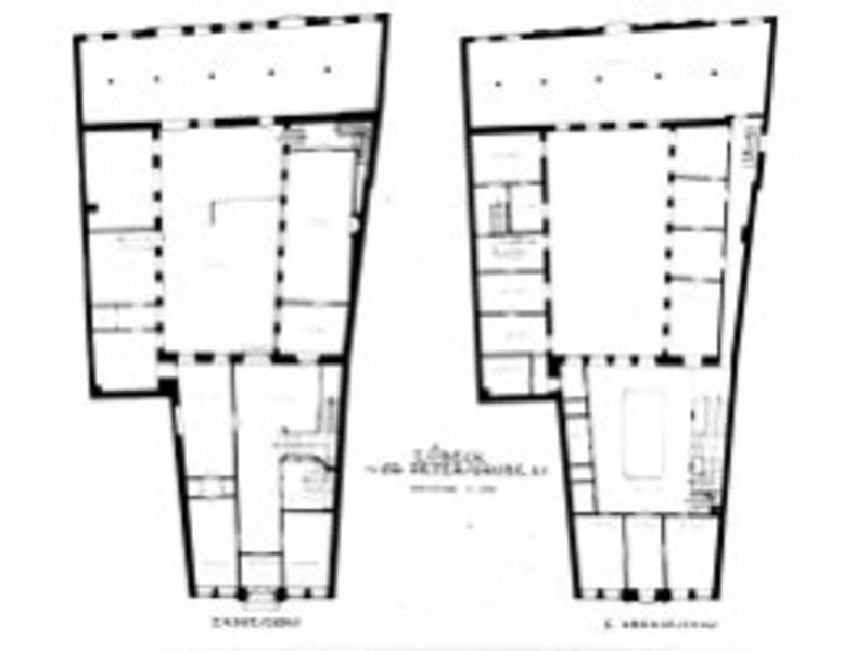 Floor plans of ground and first floor