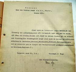 Berichtszeugnis von Josef Katz, geschrieben 1930 von Dora Arp [3]